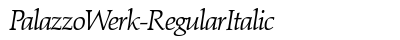 download Palazzo Werk Regular Italic