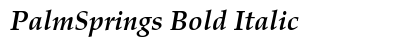 Palm Springs Bold Italic preview