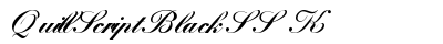 Quill Script Black SSK preview