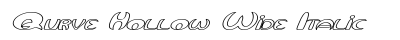 Qurve Hollow Wide Italic font