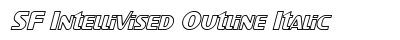 SF Intellivised Outline Italic preview