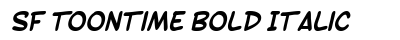 download SF Toontime Bold Italic