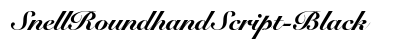 download Snell Roundhand Script Black