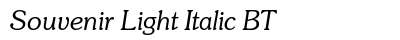 Souvenir Light Italic BT preview