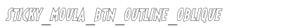 download Sticky Moula BTN Outline Oblique