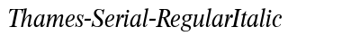 download Thames Serial Regular Italic