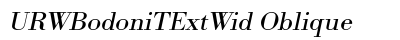 URW Bodoni T Ext Wid Oblique preview