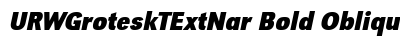 URW Grotesk T Ext Nar Bold Oblique preview