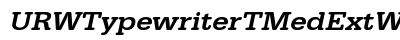 URW Typewriter T Med Ext Wid Oblique preview