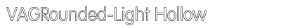 VAG Rounded Light Hollow font