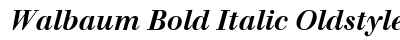 download Walbaum Bold Italic Oldstyle Figures