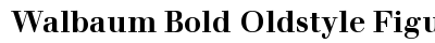 Walbaum Bold Oldstyle Figures font