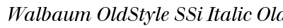 download Walbaum Old Style SSi Italic Oldstyle Figures