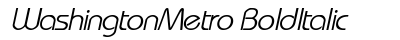 download Washington Metro Bold Italic