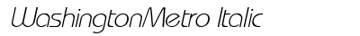 download Washington Metro Italic