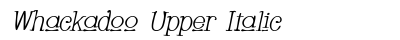 Whackadoo Upper Italic preview